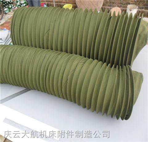 军绿色帆布软连接生产厂家