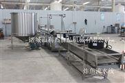 利杰食品机械小鱼仔油炸机生产线 带鱼油炸机生产线