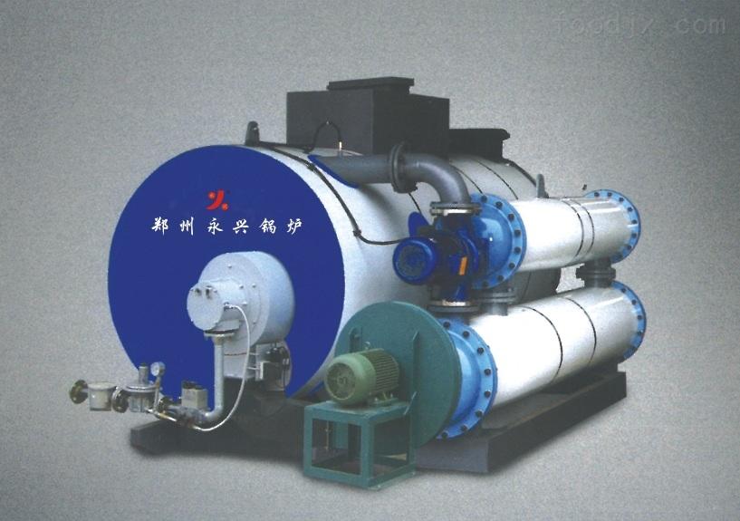 概述特征 1. 结构 间接加热热水锅炉的下半部结构与普通锅炉一样,由燃烧室与传热管组成,上半部分装有热交换器,炉体上部装设有膨胀水箱# 由于锅炉整体是在常压状态下,故绝对安全,炉内有热煤介在锅炉运行的全过程中不进、不出,在锅炉的传热管与热交换器之间传 递热足?炉内的热煤介经加热完全脱氧和软化,无腐蚀、无水垢、使锅炉寿命长达20多年?