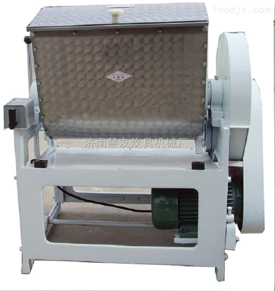 和面机是面食加工的主要设备,它主要用于将小麦粉与水按1:0.380.45的比例,根据用户加工工艺要求(有时加食油、食堂、及其他食物和食物添加剂)混合制成面团,广泛适用于食堂、饭店及面食加工单位的面食加工。