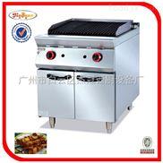 GB-989-2-杰冠+立式燃氣火山石燒烤爐連柜座/燃氣烤爐