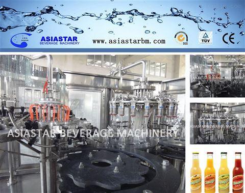 果汁灌装流水线 玻璃瓶果汁灌装设备灌装生产线液体食品包装机自动包装机 BBR-2198