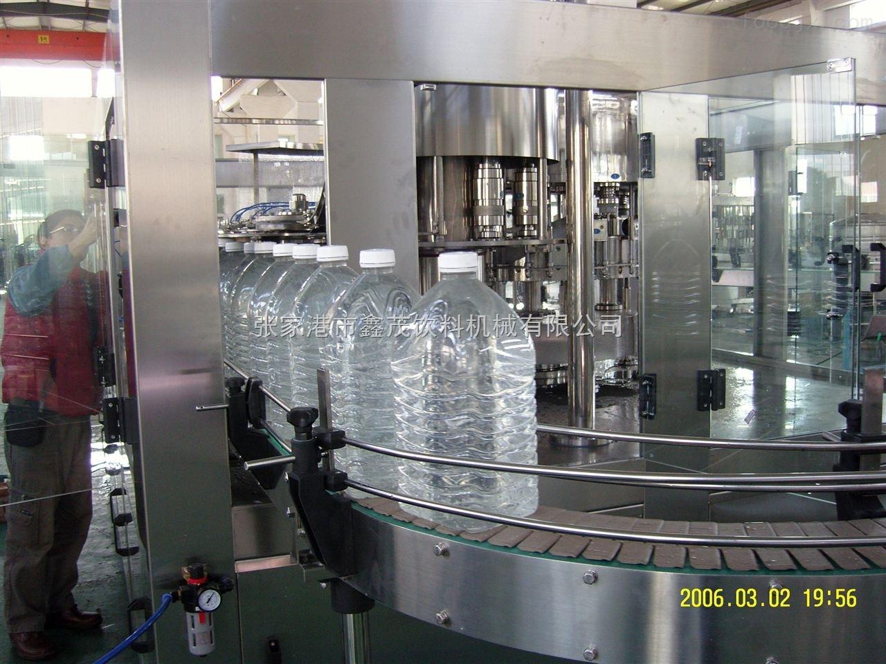 饮料机械厂家供应5l大瓶纯净水三合一机组灌装生产线