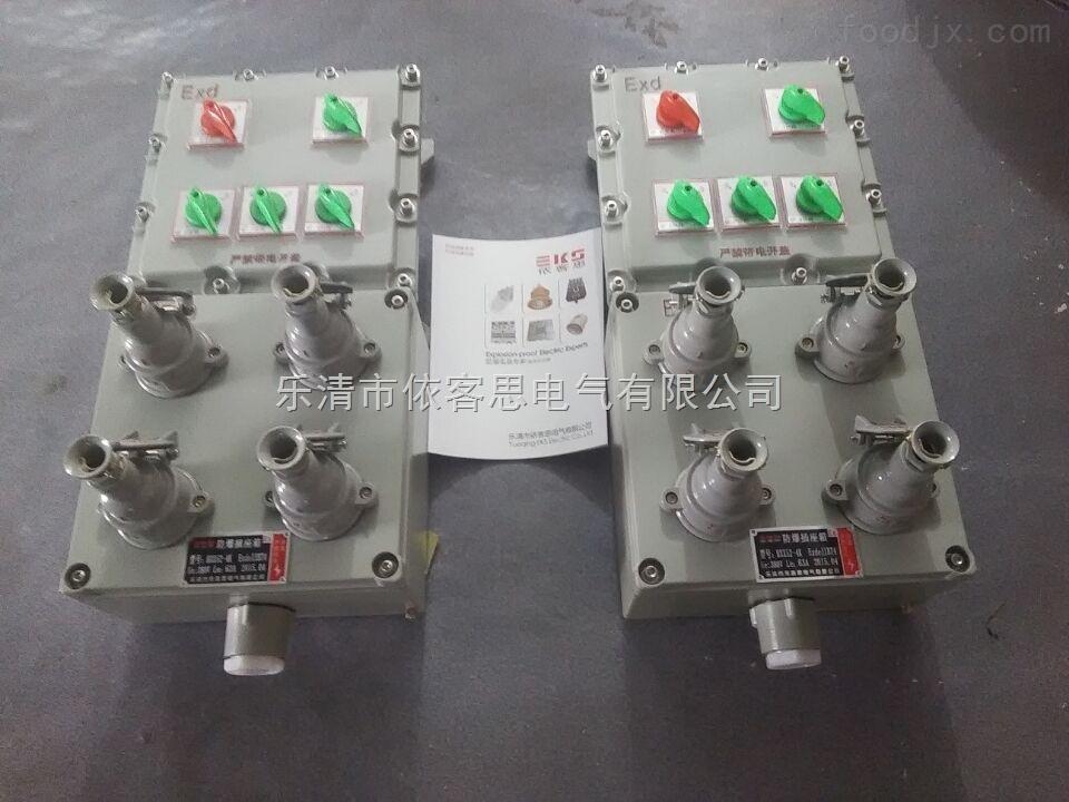 BXX52-4k防爆检修电源插座箱 带总开4回路防爆动力检修插销箱定制