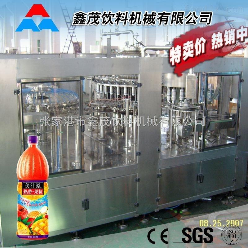 玻璃瓶果汁饮料生产线 全自动不含气果汁饮料玻璃瓶热灌装生产线铝制易拉罐生产线