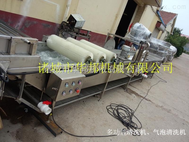 高效全自动气泡式蔬菜清洗机 商用自动洗菜机