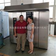 上海合强牌32盘液化气旋转炉 厂家直销天然气热风旋转炉 64盘立式面包烤箱 台车炉