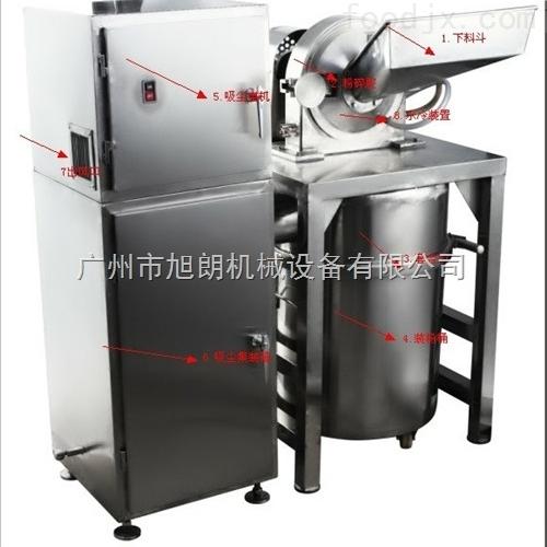 食品粉碎机水冷除尘打粉机旭朗机械