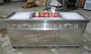 110V 60HZ大型雙鍋帶10小鍋炒冰機 炒冰淇淋機 炒冰淇淋卷機 泰式炒卷機