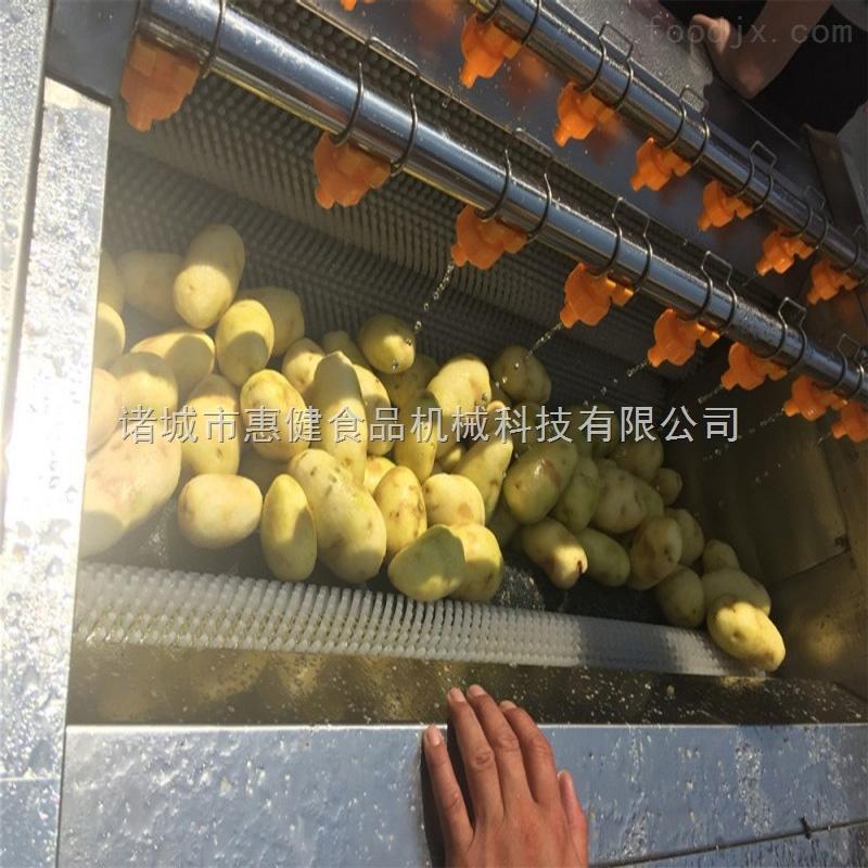 供应毛刷式土豆去皮清洗机萝卜清洗机洗菜机