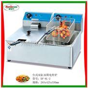 台式双缸双筛电炸炉/油炸锅/油炸设备