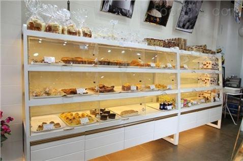面包陈列柜台 定做烘焙柜台 面包展柜 上海萧昌供图片