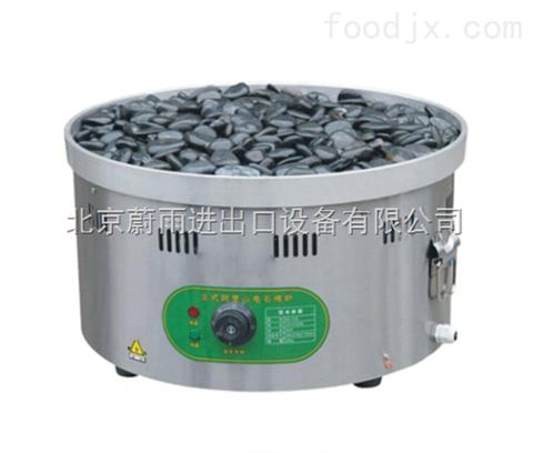 北京石头烤肠的机器|台式火山石烧烤炉|燃气圆形烤肠机器