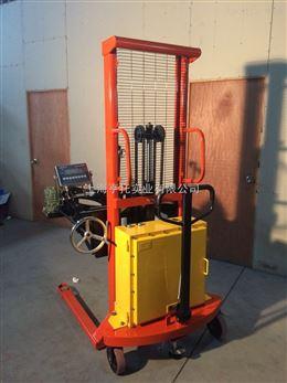 350kg半电动防爆油桶车秤 防爆倒桶车电子称