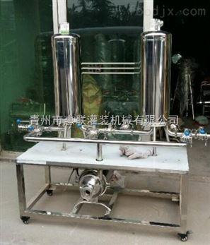 双联微孔过滤机 白酒过滤设备 果酒净化器
