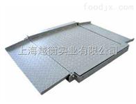 食品厂2吨不锈钢地磅  带引坡可推小车一起称量