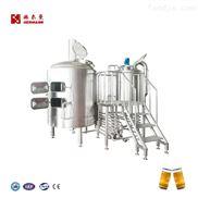 啤酒釀造設備500L啤酒糖化兩鍋三器,發酵罐