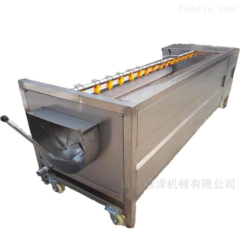 不锈钢毛辊清洗机、山芋毛刷清洗去皮机
