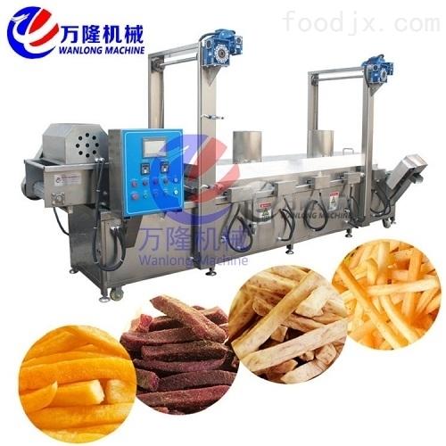 食品加工设备 连续油炸机价格 果蔬油炸锅