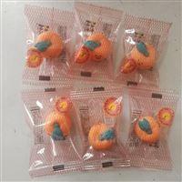 全自动糖果包装机 可爱橘子橡皮檫包装设备