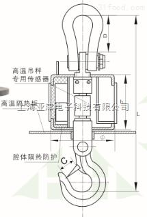 亚津无线式耐高温电子吊钩秤1T,3T,5T ,2T吨无线遥控吊称吊磅秤